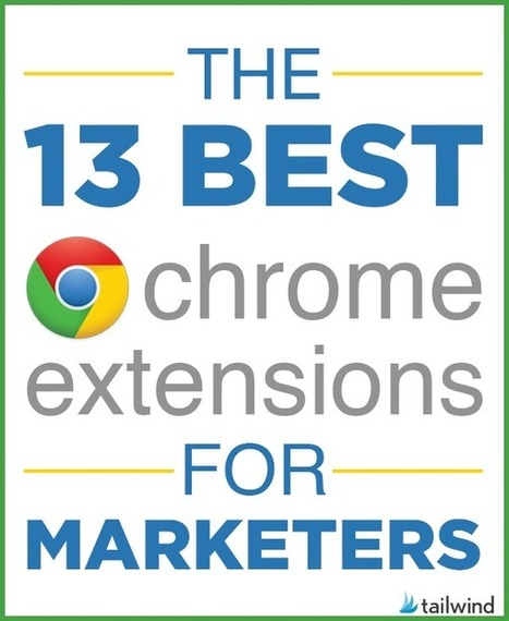 13 Best Chrome Extensions for Marketers | Artdictive Habits : Sustainable Lifestyle | Scoop.it