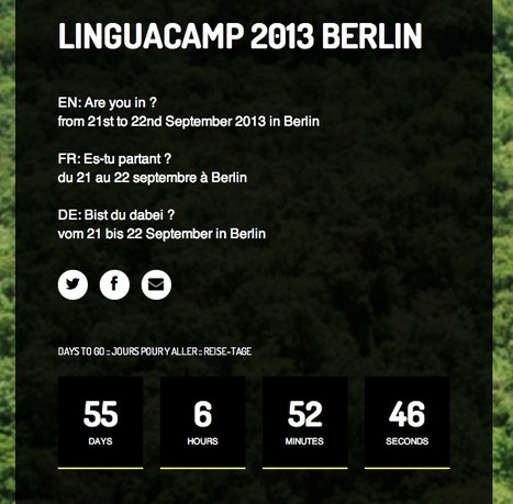 EN: LinguaCamp 2013 Berlin - day counter | LinguaCamp | Scoop.it