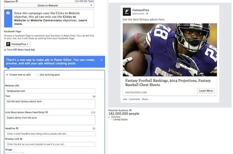 Facebook Power Editor Users Can Now Preview News Feed Ads; Objectives Updated - AllFacebook | Gouvernance web - Quelles stratégies web  ? | Scoop.it