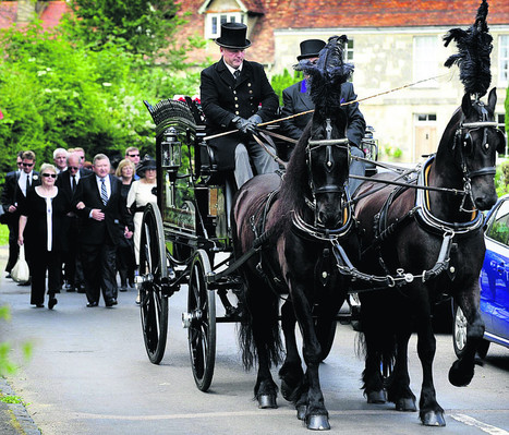 Horse-drawn hearse for teacher's final journey | Funeral News | Scoop.it