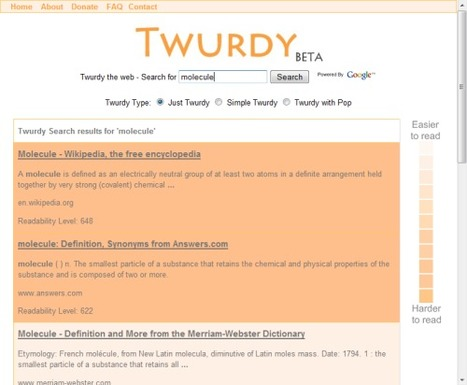 Twurdy Search - Search for Readable Results | Search Engines | Scoop.it
