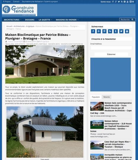 Maison Bioclimatique à Pluvigner / Bretagne | Construire Tendance | Le flux d'Infogreen.lu | Scoop.it