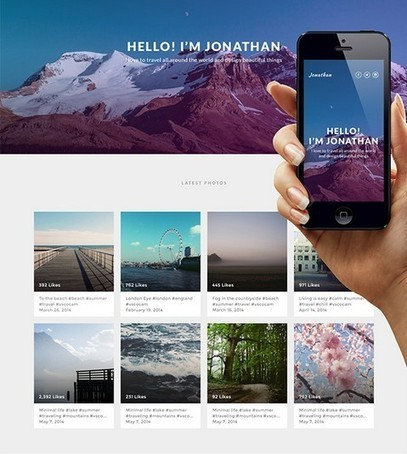 How to Design a Simple Instagram-Based Portfolio with Photoshop | Web Design Blog | Web Design Fan | Resources for Web Designers and Graphic Designers | Web 2.0 | Scoop.it