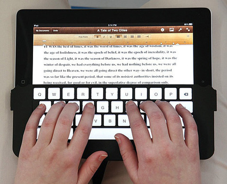 Hands On: iKeyboard Brings Touch Typing to the iPad [Macworld / iWorld 2012] | Cult of Mac | iPads in Education | Scoop.it
