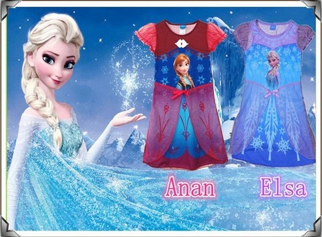Hot !!New 2104 Frozen Girl Dress Elsa's and Anna's dresses the lowest price for 4~12yrs children-in Dresses from Apparel & Accessories on Aliexpress.com | kid dress | Scoop.it