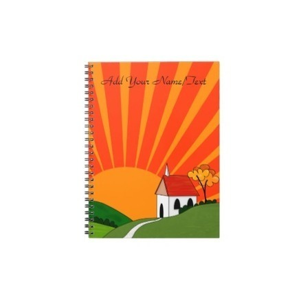Art Deco Style Landscape with Church Note Book | Z Artwork | Scoop.it