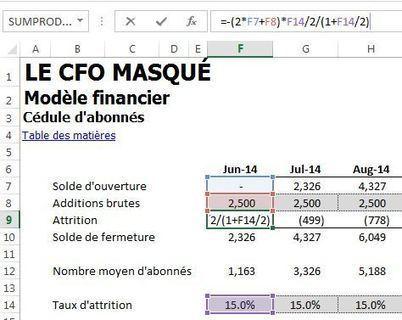 Modèle financier basé sur un nombre d'abonnés | Le CFO masqué | Modélisation financière | Scoop.it