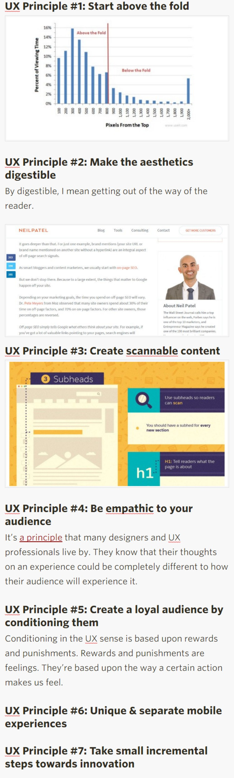 7 UX Principles to Include in Your Content That Will Hook Readers | @contentmrktrapp | The Marketing Technology Alert | Scoop.it