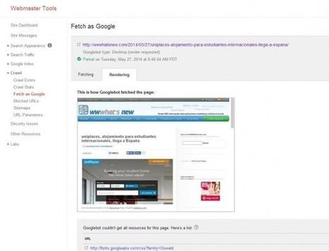 Función en Google para Webmasters permite ver nuestras páginas como si fuéramos Google | Social Media Director | Scoop.it