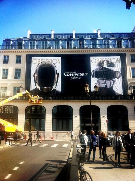 Twitter / s_jourdain : Les Daft Punk, en grand, place ... | Daft Punk France Columbia | Scoop.it