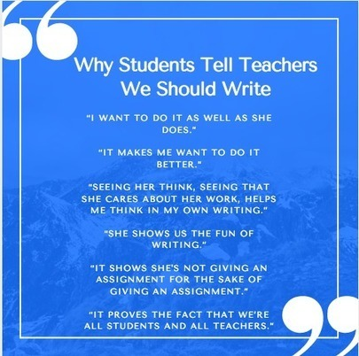 Straight From Students: Why Teachers Should Write | Cool School Ideas | Scoop.it