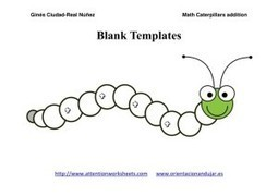 Math worksheets Caterpillars for Addition | Attention Work Sheets | Materiales interesantes en ingles | Scoop.it
