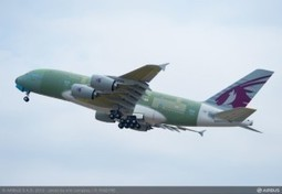 Qatar Airways' first A380 takes off for its first flight   Aviation News   Scoop.it