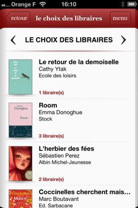 LeChoixdeslibraires.com sort son application, avec Orange | BiblioLivre | Scoop.it