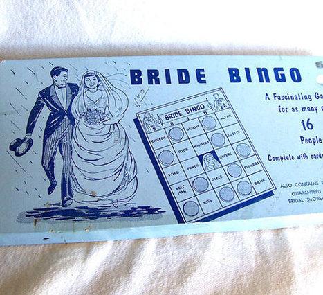 Mid century wedding shower game Bride Bingo by AntiqueAddictions | The Top 5 Wedding Theme Ideas | Scoop.it