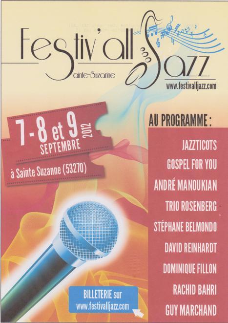 Festival de jazz dans la cité médiévale Sainte-Suzanne en Mayenne - Festiv'All Jazz   FESTIV'ALL JAZZ  2013   Scoop.it