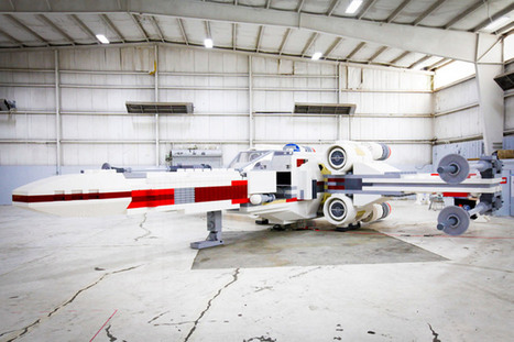 world's largest LEGO: star wars X-wing starfighter   architecture   Scoop.it