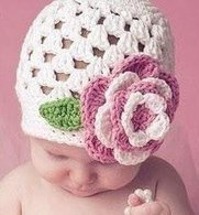 FREE Crochet Patterns: Easy baby hat crochet pattern! (FREE) Baby Beanie with Flower (cluster)   Free Crochet Patterns Easy baby crochet beanie with flower   Scoop.it