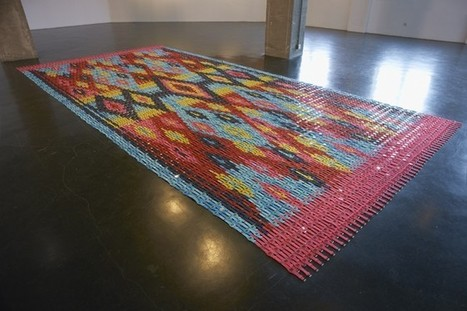 "Tapis ""Is six afraid of seven"" par Heidi Voet 