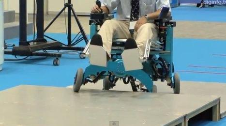 "Robot wheelchair ""grows"" legs, climbs stairs 