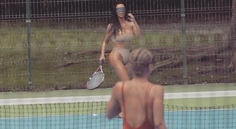 Kim Kardashian, la partita a tennis su Instagram è a luci rosse | culi femminili | Scoop.it