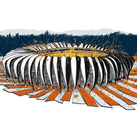 Arte y Arquitectura: Estadios de la Copa Mundial ilustrados por ... | Arte, fotografía, | Scoop.it