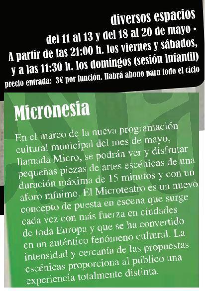 MicroTeatro Huesca Mayo 2012 | Teatro en la escuela | Scoop.it