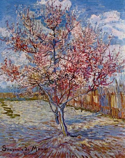 Oil painting reproduction: Vincent Van Gogh Peach Tree In Bloom In Memory Of Mauve 1888 - Artisoo.com | Landscapes oil paintings | Scoop.it