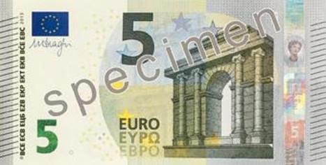 Há máquinas que recusam nova nota de cinco euros | Economy | Scoop.it