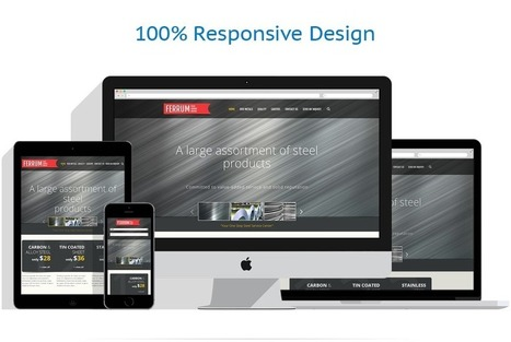 Steelworks Responsive Website Template #48046 | Stainless Beat | Scoop.it