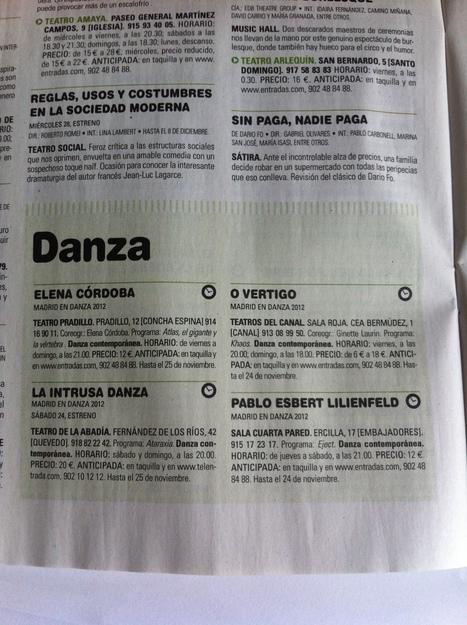 Agenda Madrid en Danza en ON Madrid | Festival Internacional Madrid en Danza 2012 | Scoop.it