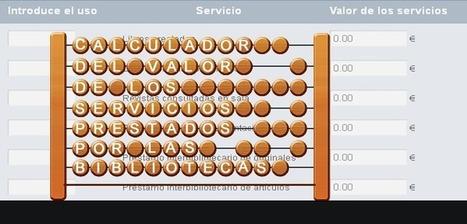 Calculador del valor económico de los servicios prestados por las bibliotecas   Recursos BibyDoc   Scoop.it