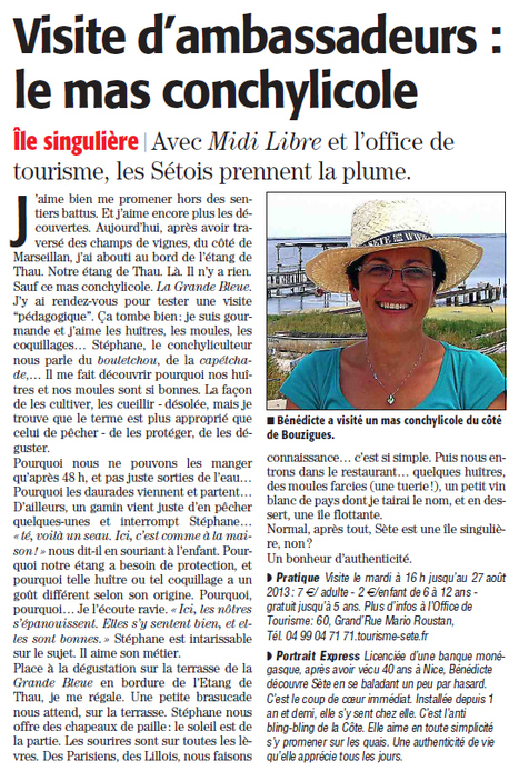 Visite et dégustation au mas la Grande Bleue | Sète Tourisme : les ambassadeurs-reporters sur le terrain | Scoop.it
