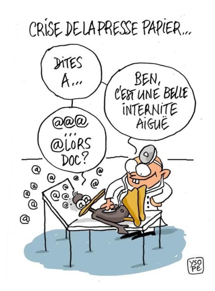 Crise de la presse papier | Baie d'humour | Scoop.it