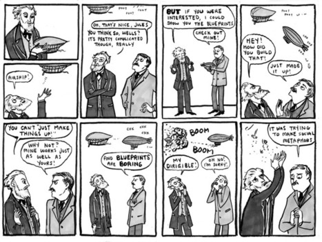 Wells and Verne, by Kate Beaton | Reward Yourself with Reading | Scoop.it