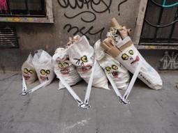 Street art : il donne vie à des monstres grâce aux ordures trouvées dans la rue | street art | Scoop.it
