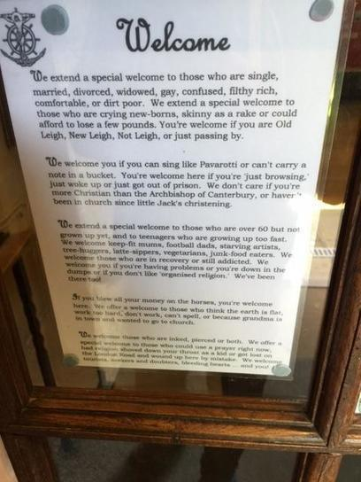 """Walked Past a Church Yesterday, Had This Poster on the Door""... 