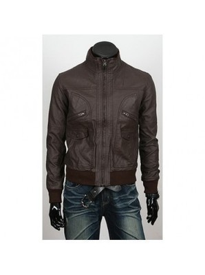 6 Pocket Slimfit Bomber Leather Jacket - Strasberg | Leather Jacket Stylish | Scoop.it