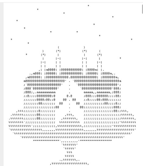 Cake Ascii Art : Art: Cool ASCII Man Walking PjLightHouse.com ...