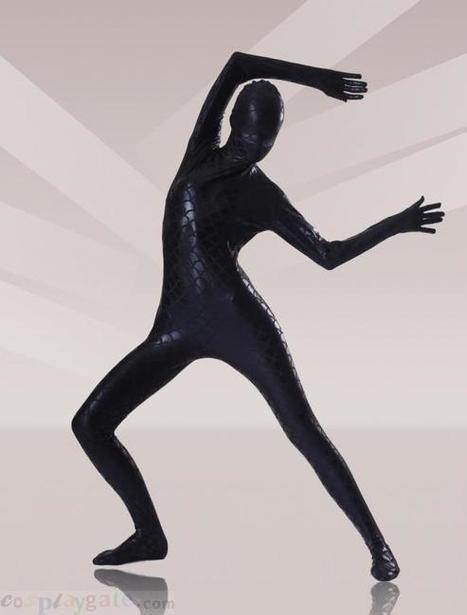 Black Fish Scale Shiny Metallic Zentai Suits   zentai bodysuit,spandex zentai suit bodysuit   Scoop.it