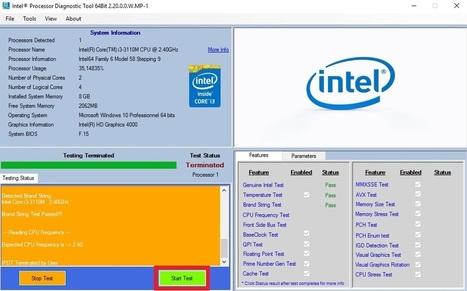 Tester Son Processeur Facilement Et Gratuitement Avec Un Outil Très Efficace | Informatique TPE | Scoop.it