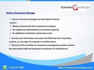 Data entry, Online Document Storage, document Scanning   Content Conversions - YouTube | contentconversions | Scoop.it