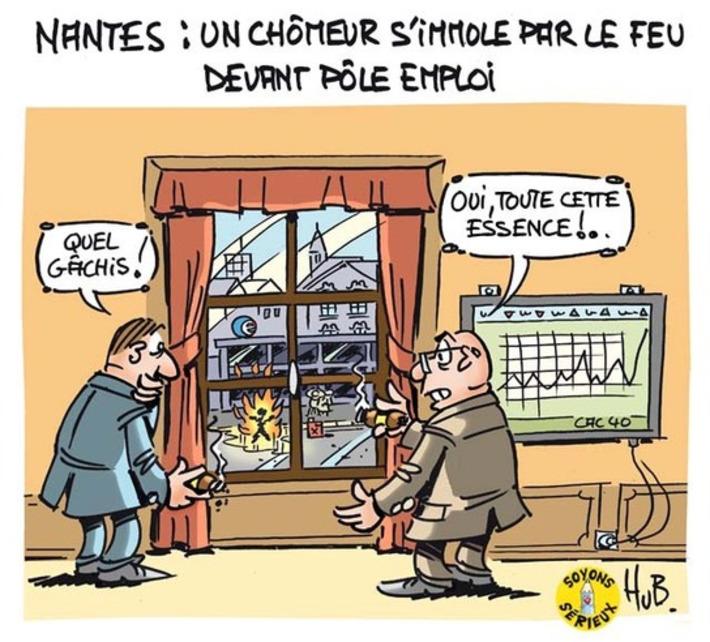 Un chômeur s'immole devant Pôle Emploi | Baie d'humour | Scoop.it
