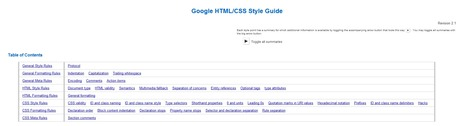 Google HTML/CSS Style Guide | Time to Learn | Scoop.it