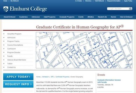 AP Human Geography Online Courses and Certificate Program | Geography Education | Scoop.it