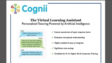 Cognii Launches Virtual Learning Assistant for the Education Market | EdTechReview | Scoop.it