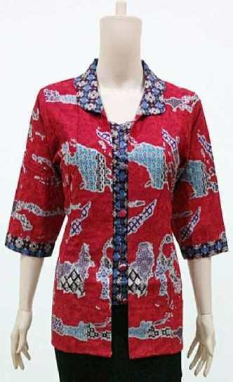 Blus Batik Cantik Motif Kepulauan Nusantara BW772 | Toko Online Batik Ganitri | mischaYY | Scoop.it