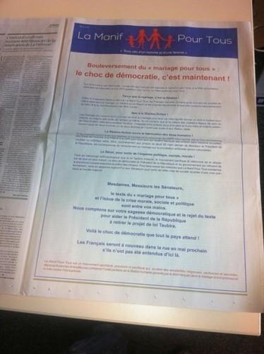 «Le Monde» diffuse la publicité homophobe de la «Manif pour tous ...   Média's life   Scoop.it