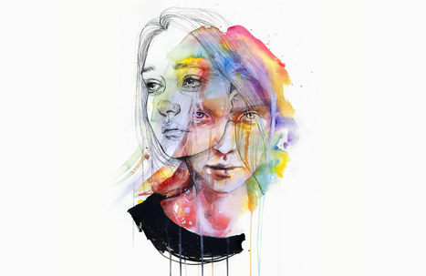 Agnes Cecile's #Rainbow #Watercolour #Art from 2014-2015. #painting | Luby Art | Scoop.it