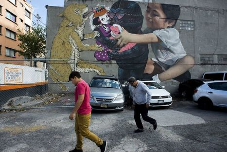 Graffiti artists turn Mexico City's walls into a collective CRY of PROTEST | URBANmedias | Scoop.it